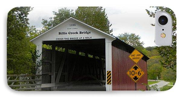 Billie Creek Bridge IPhone Case by Robert Turner