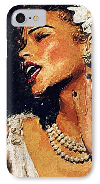 Harlem iPhone 7 Case - Billie Holiday by Taylan Apukovska
