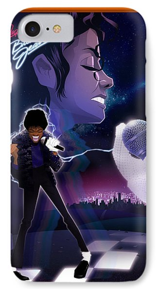 IPhone Case featuring the drawing Billie Jean 2 by Nelson dedos Garcia