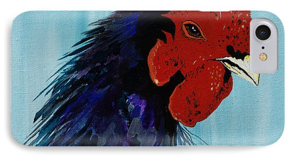 IPhone Case featuring the painting Billy Boy The Rooster by Janice Rae Pariza