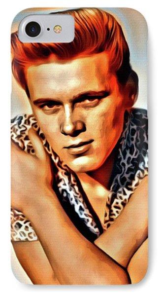 Billy Fury, Music Legend. Digital Art By Mary Bassett IPhone Case by Mary Bassett