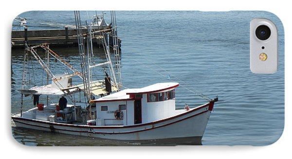 Bilouxi Shrimp Boat Phone Case by Cynthia Powell