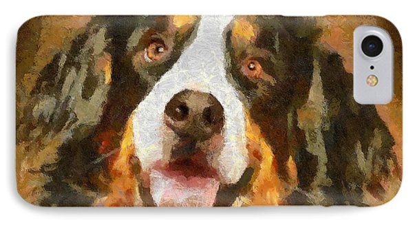 Bimbo - Bernese Mountain Dog IPhone Case by Dragica  Micki Fortuna