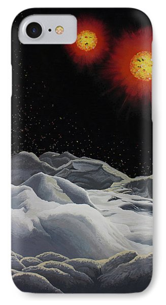 Binary Red Dwarf Stars 2 IPhone Case by Kurt Kaf