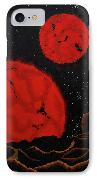 Binary Red Dwarf Stars IPhone Case by Kurt Kaf