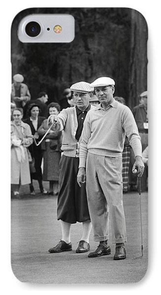 Bing Crosby And Ben Hogan IPhone Case by Underwood Archives