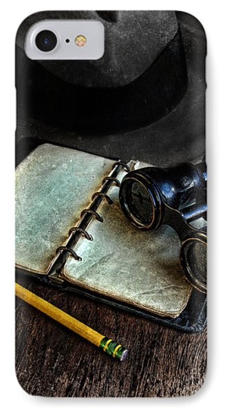 Binoculars Fedora And Notebook IPhone Case