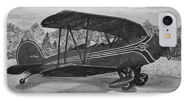 Biplane In Black And White IPhone Case