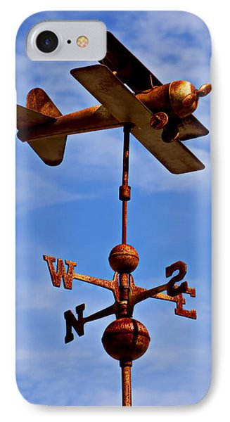 Biplane Weather Vane Phone Case by Garry Gay