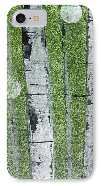 Birch - Green 1 Phone Case by Jacqueline Athmann