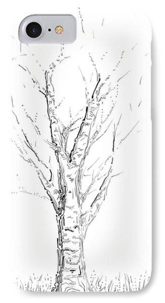 Birch Abstraction Study Phone Case by Regina Valluzzi