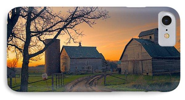 Birch Barn 2 IPhone Case by Bonfire Photography
