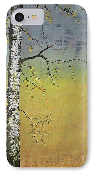 Birch In A Golden Field IPhone Case by Carolyn Doe