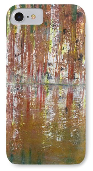 IPhone Case featuring the painting Birch In Abstract by Gary Smith