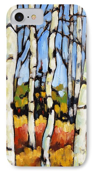 Birch Study By Prankearts Phone Case by Richard T Pranke
