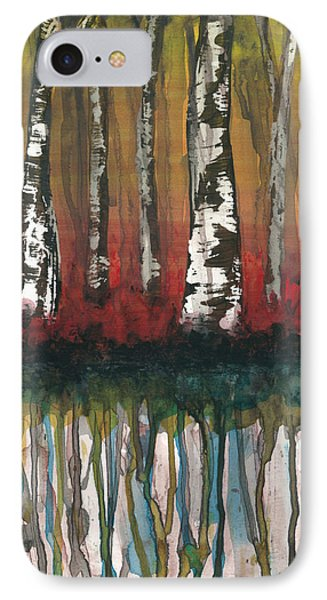 Birch Trees #2 Phone Case by Rebecca Childs