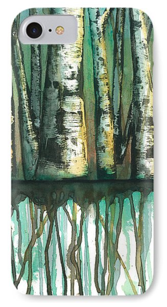 Birch Trees #5 Phone Case by Rebecca Childs