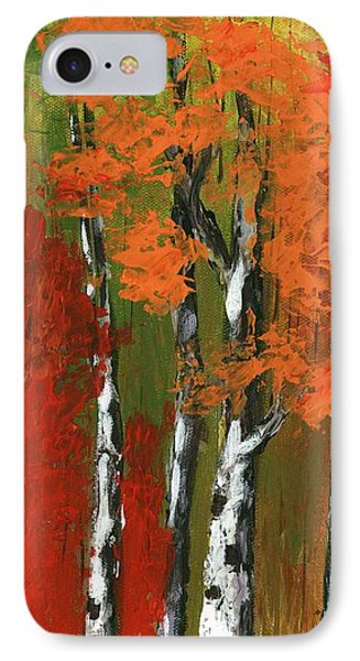 Birch Trees In An Autumn Forest IPhone Case by Anastasiya Malakhova
