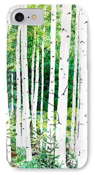 Birch Trees IPhone Case by Jennifer Apffel