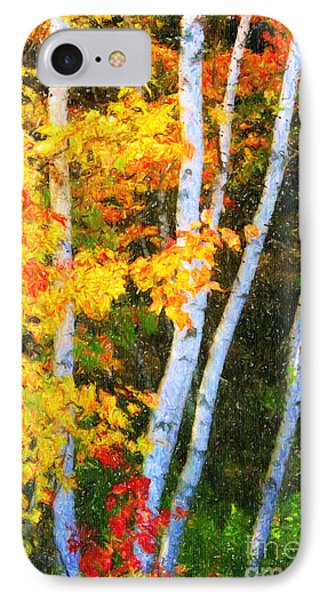 Birch Trees IPhone Case by Verena Matthew