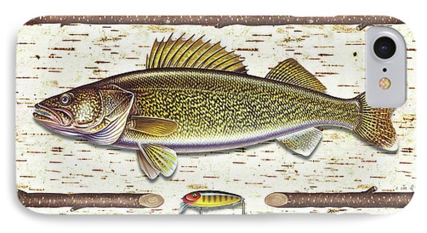 Birch Walleye IPhone Case by JQ Licensing