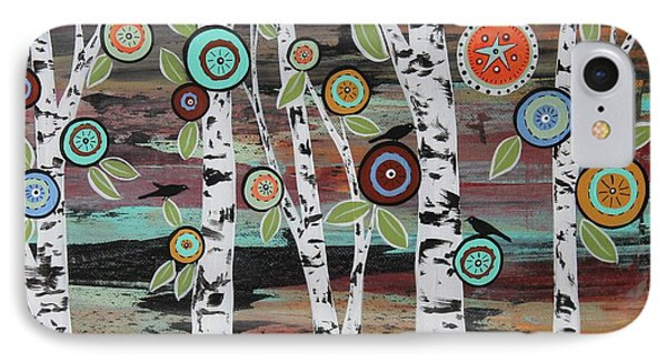 Blackbird iPhone 7 Case - Birch Woods by Karla Gerard