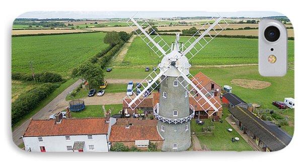 Bircham Windmill Phone Case by Steev Stamford