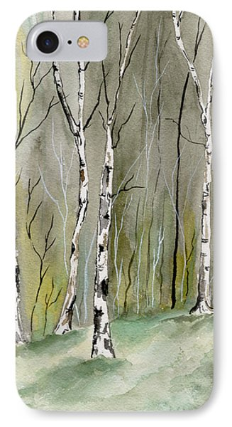 Birches Before Spring IPhone Case