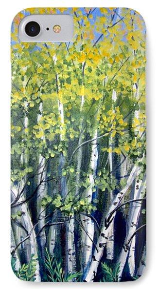 Birches Phone Case by Sharon Marcella Marston