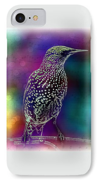 Bird And Music IPhone Case by Lilia D