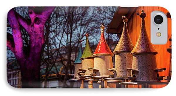 Bird Feeders At Karlsplatz Christmas Market Vienna  IPhone Case by Carol Japp