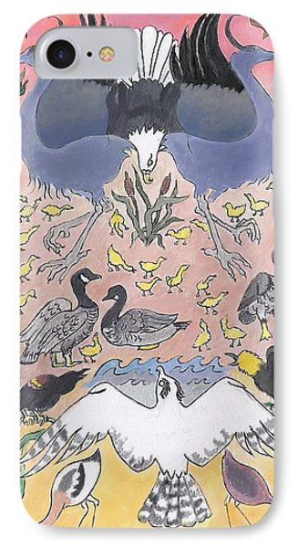 IPhone Case featuring the painting Bird Festival by Dawn Senior-Trask