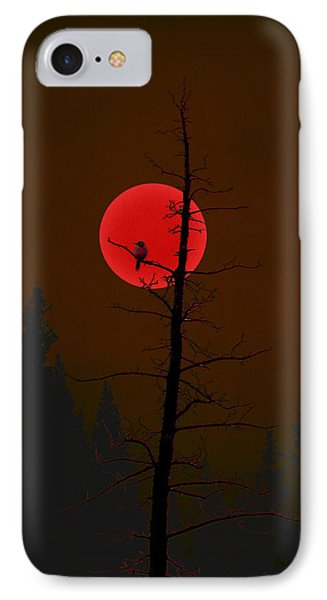 IPhone Case featuring the digital art Bird In A Tree by Stuart Turnbull
