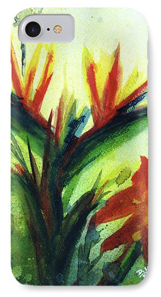 Bird Of Paradise, #177 Phone Case by Donald k Hall