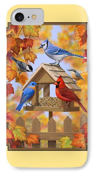 Bird Painting - Autumn Aquaintances IPhone 7 Case