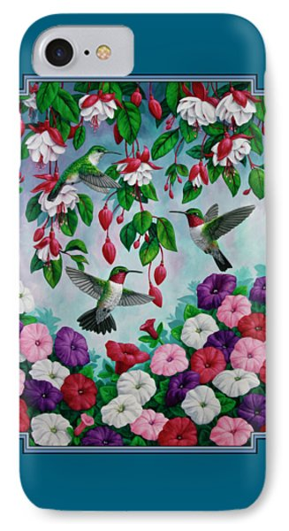 Bird Painting - Hummingbird Heaven IPhone 7 Case by Crista Forest
