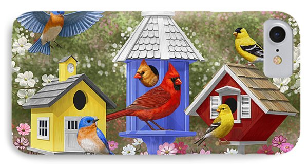 Bird Painting - Primary Colors IPhone 7 Case by Crista Forest