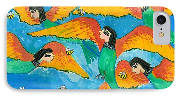 Bird People Little Green Bee Eaters Of Upper Egypt IPhone Case