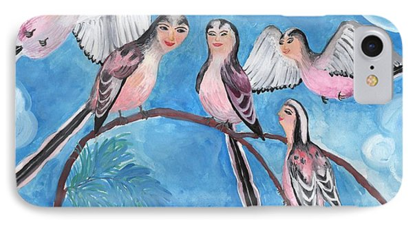Bird People Long Tailed Tits IPhone Case