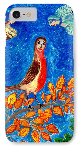 Bird People Robin IPhone Case