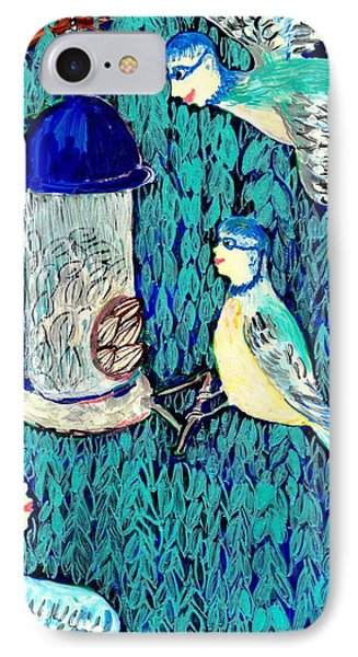 Bird People The Bluetit Family Phone Case by Sushila Burgess
