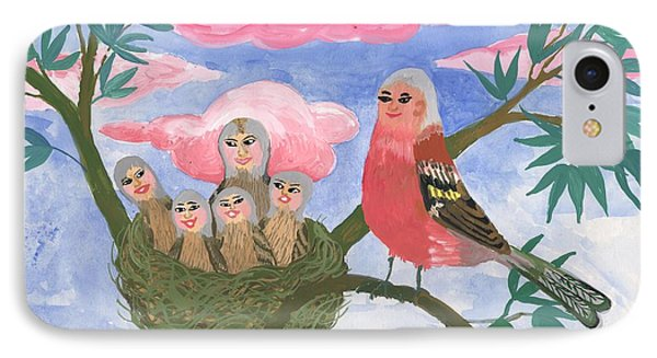 Bird People The Chaffinch Family Phone Case by Sushila Burgess