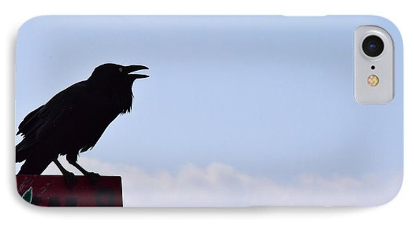 Crow Profile IPhone Case by Sandy Taylor