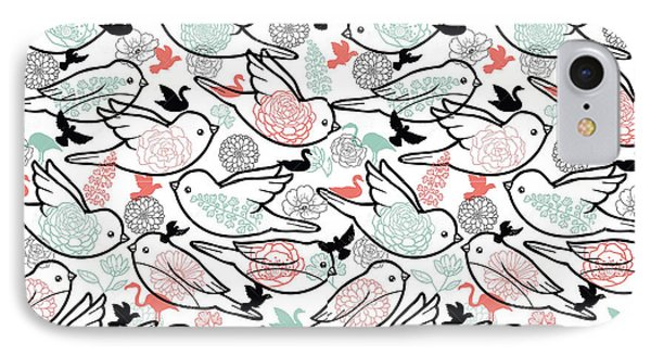 Bird Solid IPhone Case by Elizabeth Taylor