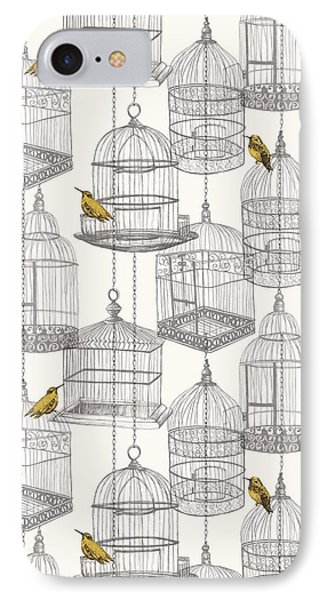 Birdcages IPhone 7 Case by Stephanie Davies