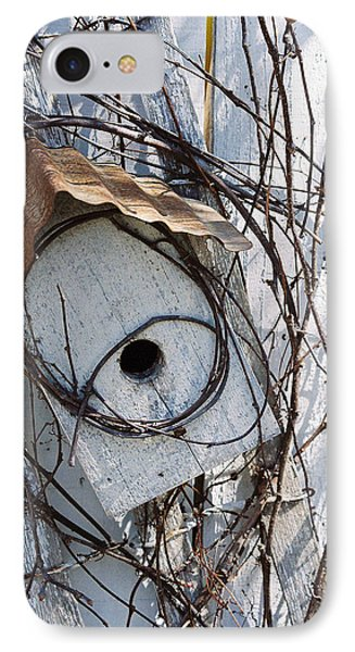 Birdhouse Brambles Phone Case by Lauri Novak