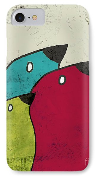 Birdies - V101s1t IPhone Case by Variance Collections
