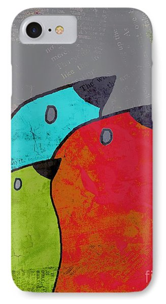 Birdies - V11b IPhone Case by Variance Collections