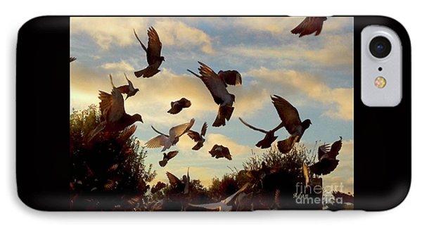 Birds And Fun At Butler Park Austin - Birds 1 IPhone Case by Felipe Adan Lerma