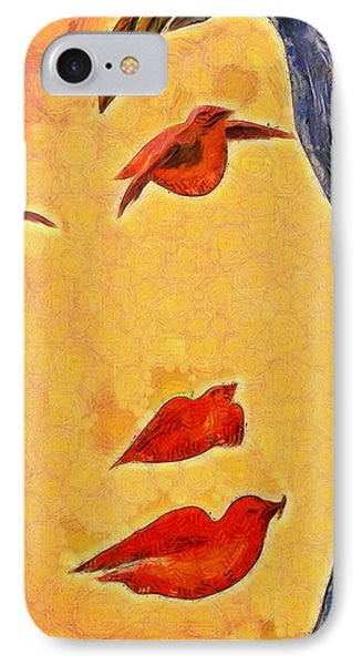 Birds And Tree - Da IPhone Case